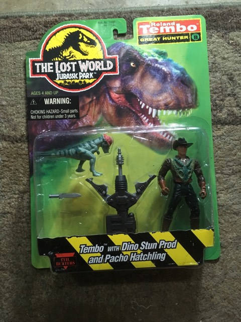Roland Tembo Hair Jurassic Park Lost World Vintage Action Figure Sealed on Card
