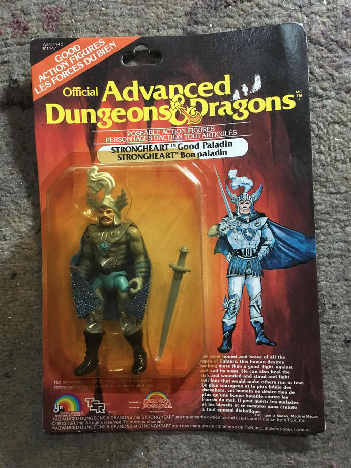 Strongheart Good Paladin Canadian Advanced Dungeons & and Dragons Action Figure