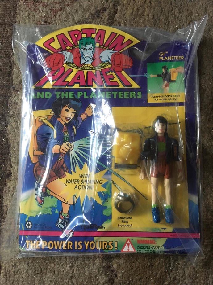 Gi Captain Planet Action Figure On Card Tiger Toys 1994