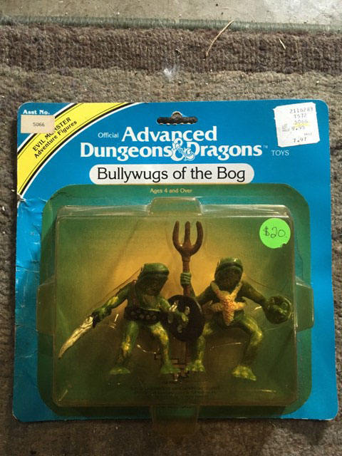 Bullywugs of the Bog Advanced Dungeons & and Dragons Action Figure LJN Sealed on