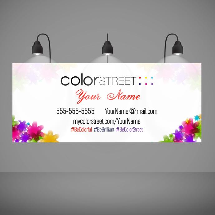 Color Street Banner - Custom- Horizontal banner