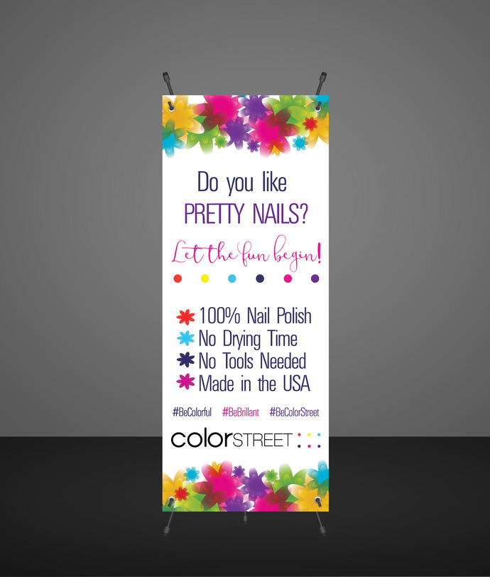 DIGITAL Color Street Nail Stylist Banner -Product display - Vendor Show- Instant