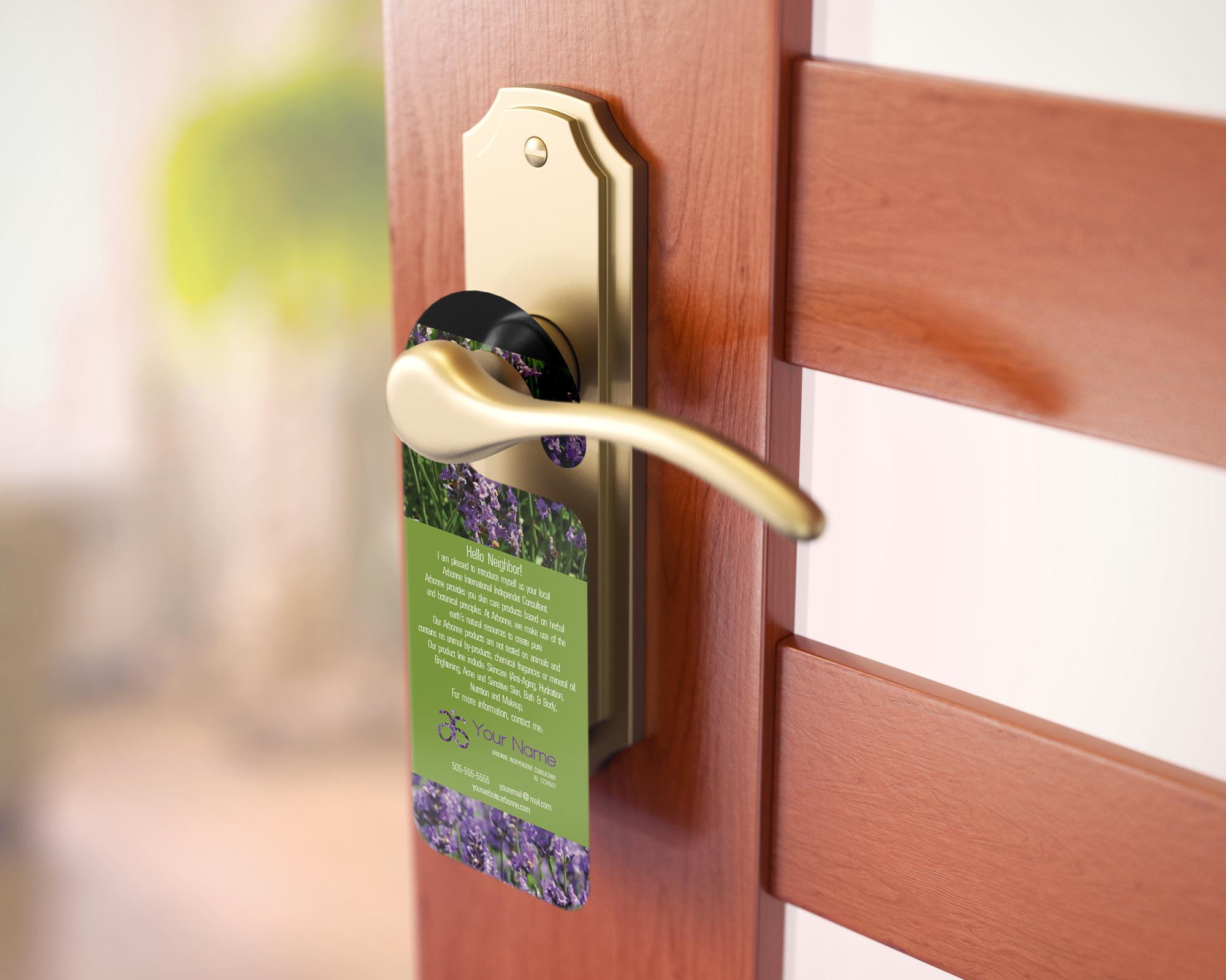print your own door hanger