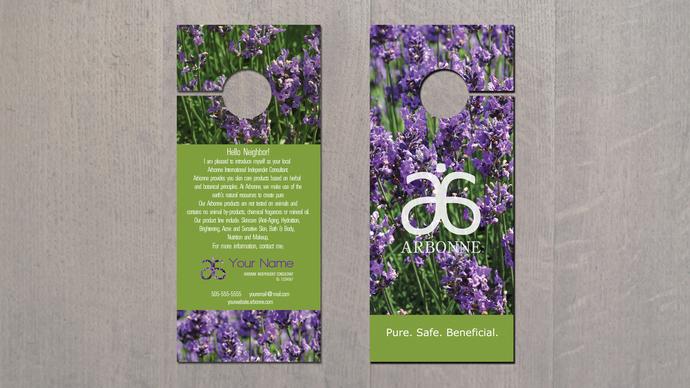 Arbonne Door Hanger - Lavender