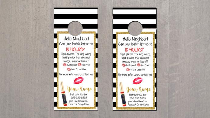 Lipsense Door Hanger - Modern Lips