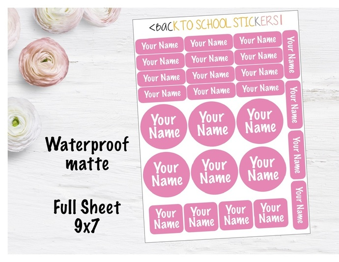custom waterproof name labels by southerngirlplans on zibbet