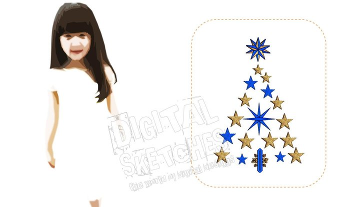 Christmas Tree Machine Embroidery Design Holiday