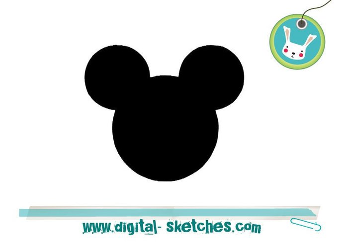 Mickey Minnie Mouse Style Head  Machine Embroidery Design 5 Sizes