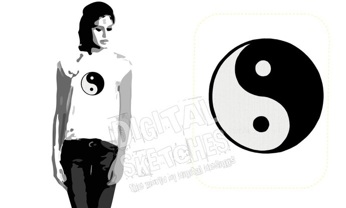 Yin Yang Machine Embroidery Design 6 Sizes
