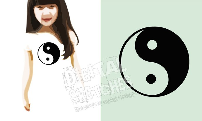 Ying Yang Cut File .SVG .DXF