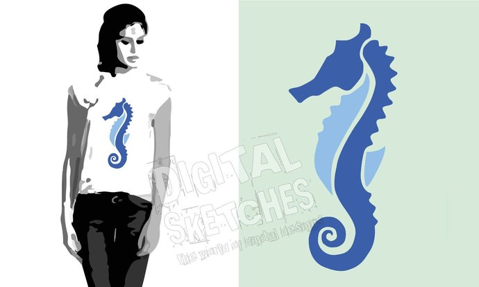 Seahorse Nautical Sea Cut File .SVG .DXF