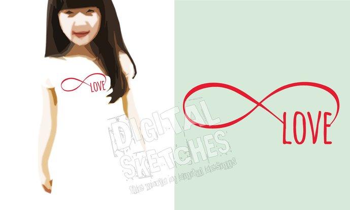 Love Infinity Loop Cut File .SVG .DXF