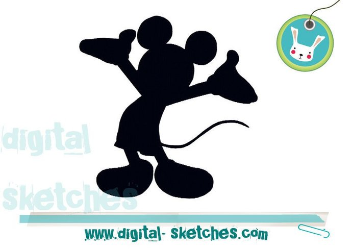 Machine Embroidery Design Animals Mickey By Digital Sketches On Zibbet