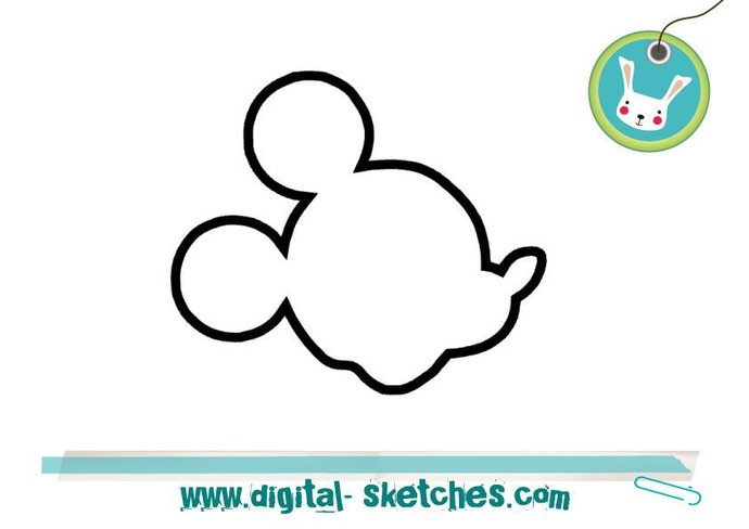 Mickey Minnie Mouse Applique Design Style Head  Machine Embroidery Design 5