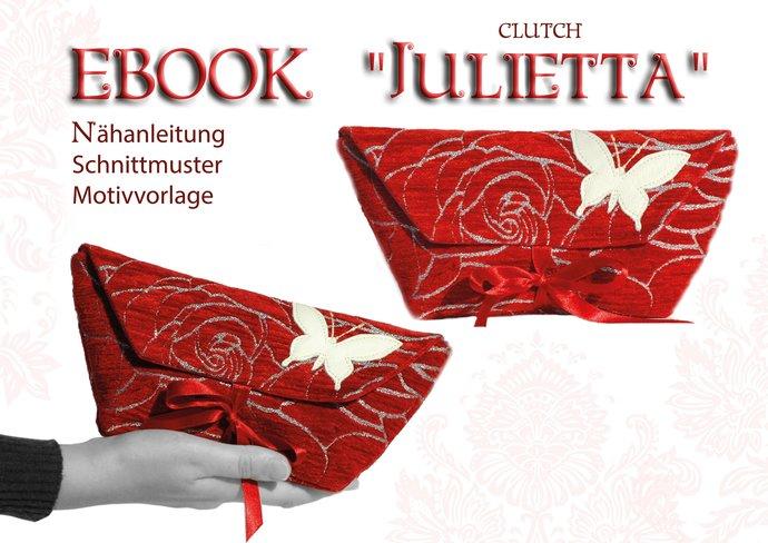 Clutch bag sewing pattern german ebook by digital sketches on zibbet