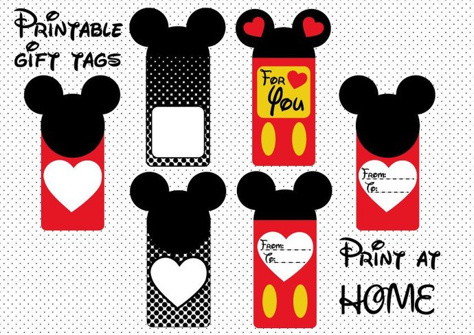 photo about Printable Gift Labels identify Mouse Printable Reward Tags .PDF Mickey Structure Pets Professing For By yourself Packaging Labels Cling Tags Fast Obtain DIN A4