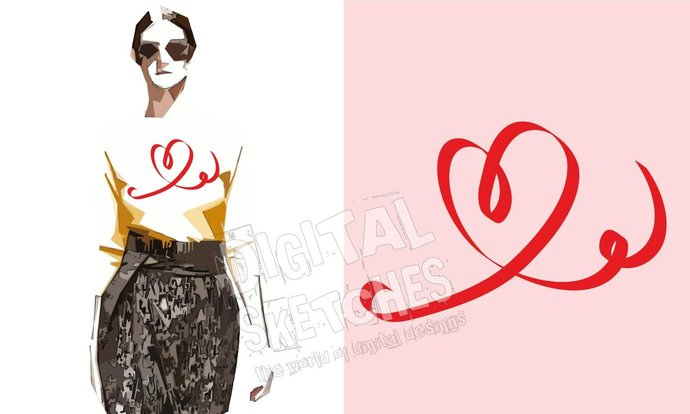 Heart Cut File Silhouette Vector .SVG .DXF