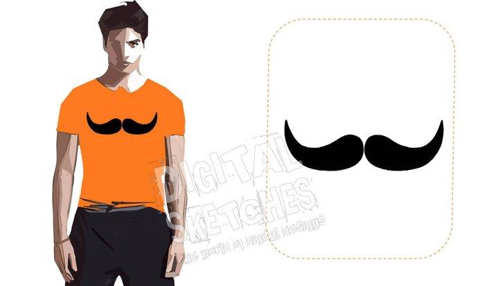 Mustache Machine Embroidery Design 3 Sizes