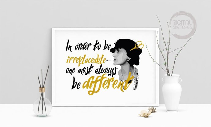 picture relating to Chanel Printable named Claiming Estimate Be Choice Coco Chanel Quotation Printable Artwork, Wall Artwork, .PDF, Typography, Residence Decor, Print Artwork, Poster, Inspirational Poster