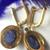 14k Gold 925 Sterling Silver Tanzanite Diamond Dangler Earring Jewelry