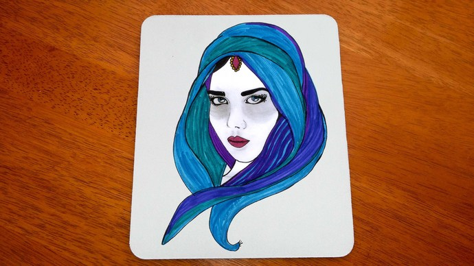 Arabian Woman, Mouse Pad, Mouse Mat