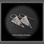 Edge~ Amethyst Gemstone Fused Argentium Silver Triangle Earrings