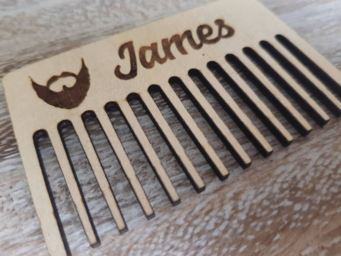 Wood Beard Comb, Personalised Comb, Custom Beard Comb, Men, Movember, For Him,