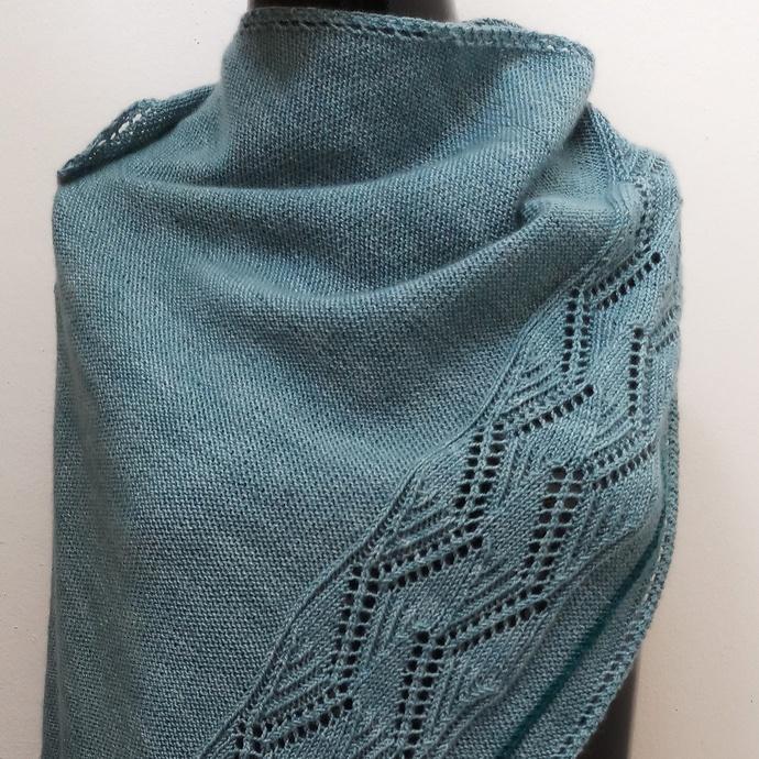 Zen Garden Original Design Hand Knit Wool Shawl