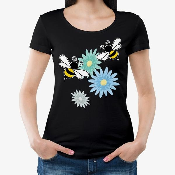 501d96e7 Help Save The Bees Bee Happy T-Shirt by Luminous Apparel on Zibbet