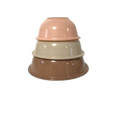 Vintage Set of 3 Pyrex Mixing Bowls Mauve