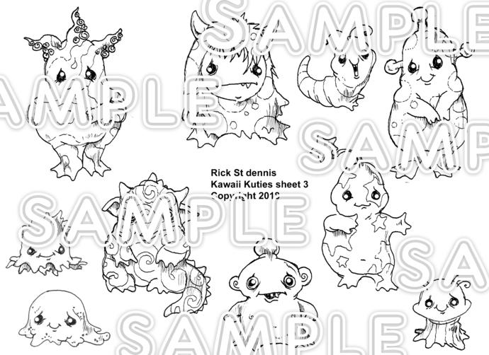 Copy of Kawaii 2018 sheet 3- Kawaii Kreatures