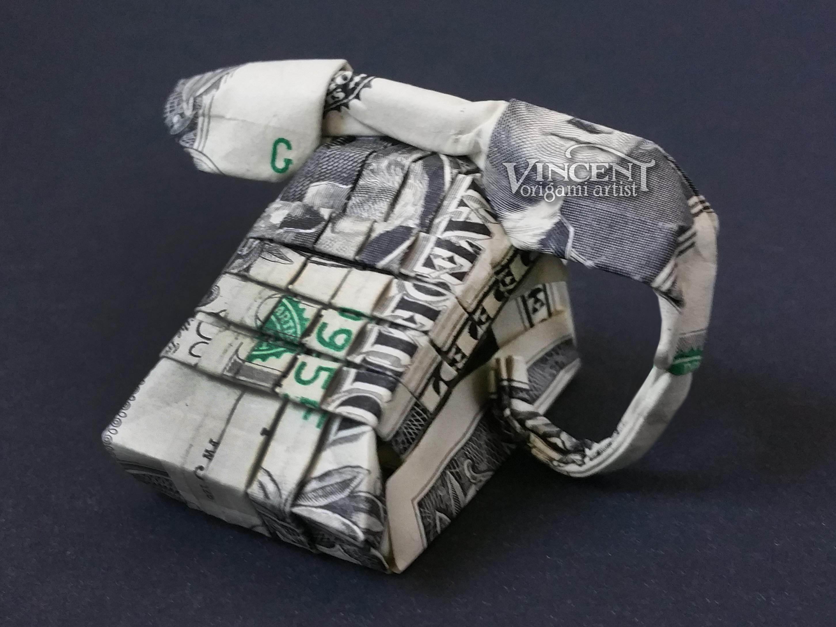 LARGE DIAMOND RING Money Origami Art Dollar Bill Cash | Etsy | 2178x2904