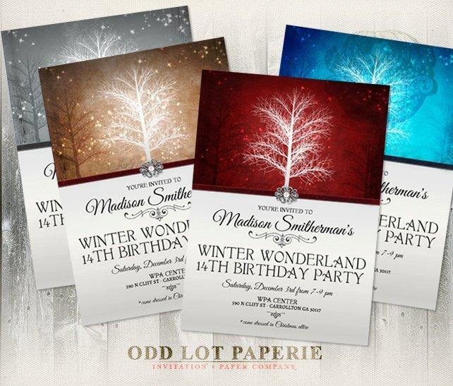 Winter Wonderland Birthday Party Invitation, Printable Invitation , Printable