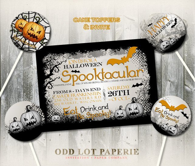 halloween invitation halloween party by odd lot paperie on zibbet