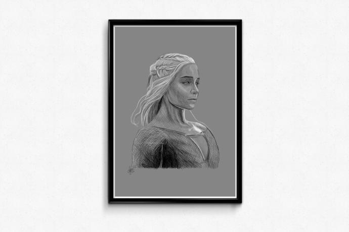 PRINTS - Daenerys Sketch (Game of Thrones)