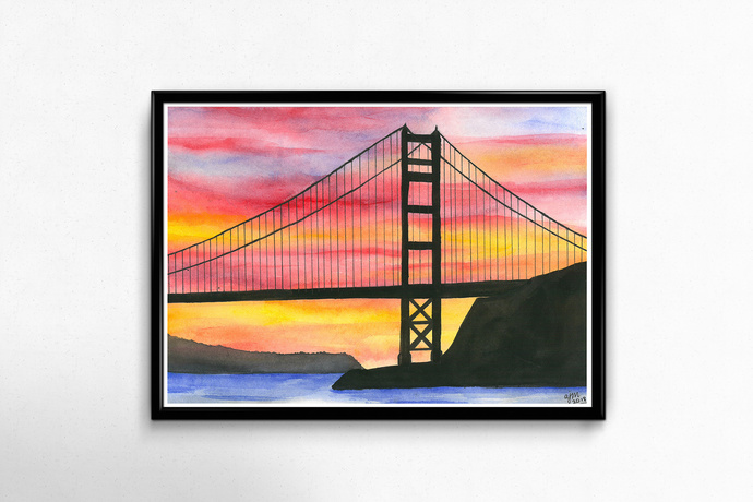PRINTS - Golden Gate Bridge (Sunset)