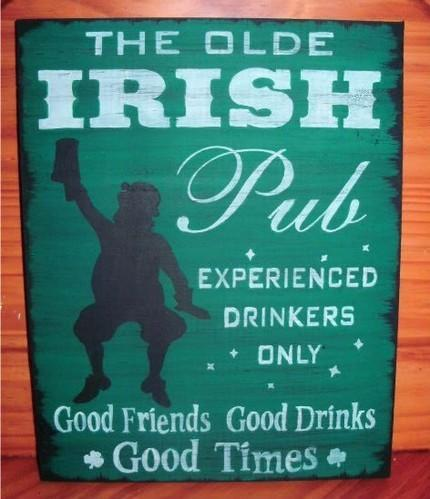 Irish Pub Sign The Olde Irish Pub St. patrick's Day Leprechauns Primitives
