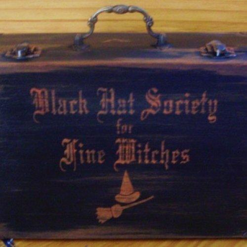 LAST ONE Purses Witchcraft Primitive Witch Black Hat Society Purse Box Witches