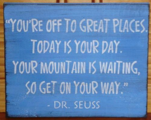 Dr. Seuss plaque Nursery Decor Graduation Gift Primitive Sign New baby gifts