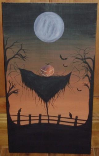 Primitive Sleepy Hollow Jack Sign Halloween Scarecrow Pumpkinhead New York Folk