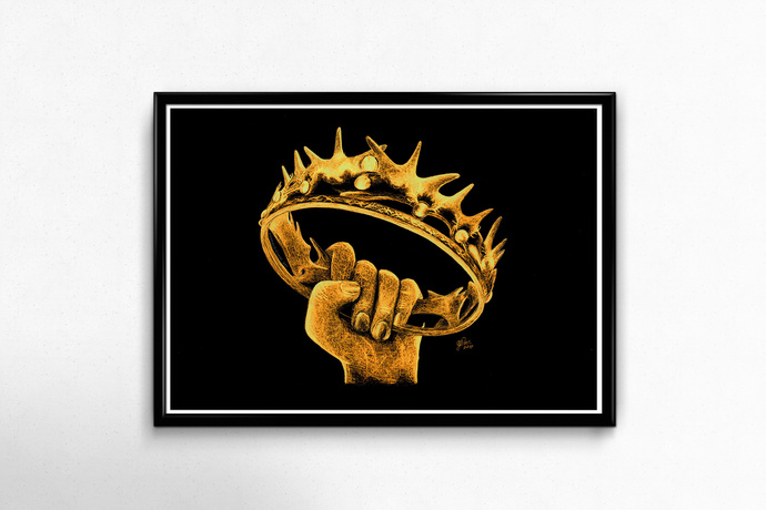 PRINTS - Game of Thrones Crown (Inverted)
