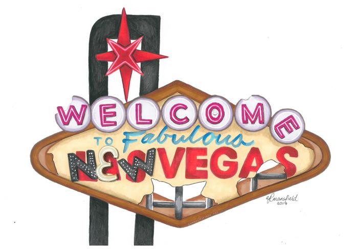 PRINTS - New Vegas Sign (Fallout: New Vegas)