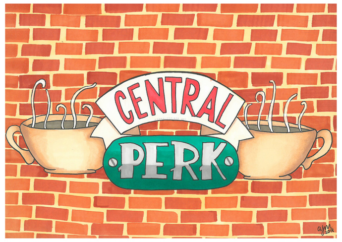 PRINTS - Central Perk Sign (Friends)