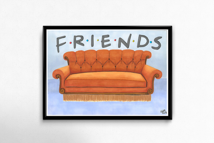 PRINTS - Friends Couch