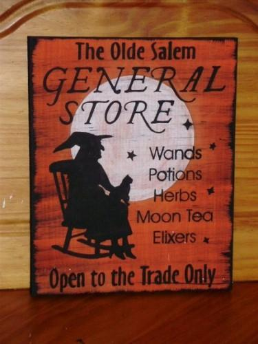 Primitive Witch Signs Olde Salem General Store Primitives Witches Sign Halloween