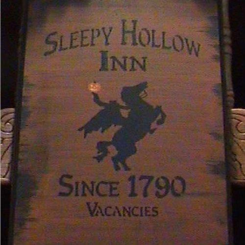 Primitive Sleepy Hollow Inn Sign Headless Horseman New York Halloween