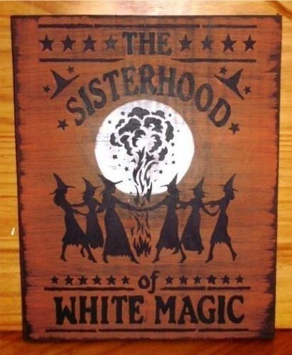 Primitive Witch signs Sisterhood of White magic witches witchcraft halloween