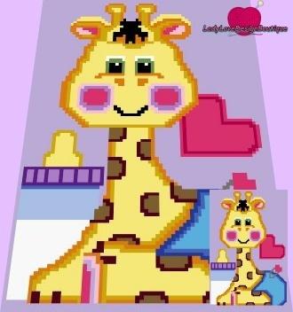 Baby Giraffe c2c