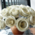 Bouquet with 36 medium Paper flowers made from black - ivory Thai bookpaper