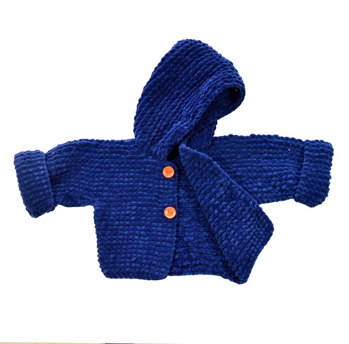 Knitted baby coat. Baby dressy coat. Knit baby clothes. Baby hooded coat. Coat